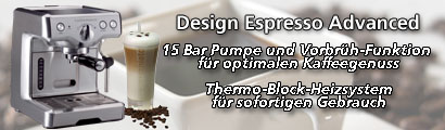Design Espresso Maschine Advanced